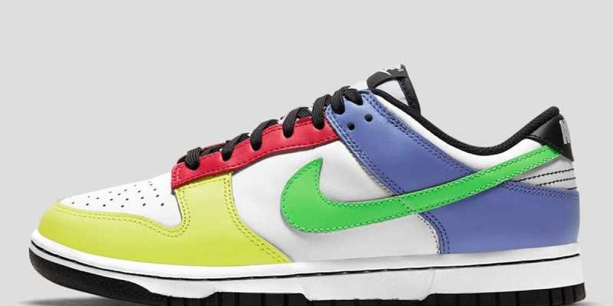 "This Women's Nike Dunk Low ""Multi-Color"" DD1503-106 Shoes Hot Sell"